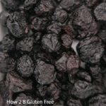 Dried blueberries, delicious in a dark chocolate brownie